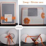 Swap Février : boîte coeur et calendrier
