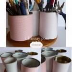 Pot à crayons scrapé avec Jérôme