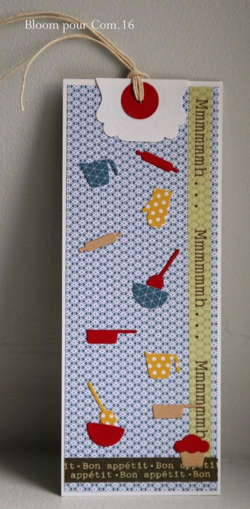 Marque page de cuisine et carte for Marque de cuisine