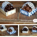 Panier de Pâques pour oeufs en chocolat