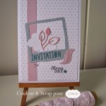 Carte et ronds de serviette d'anniversaire scrappés
