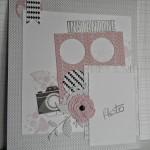 Page graphique noir, blanc, rose