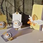 Carte et trois étiquettes pour cadeaux