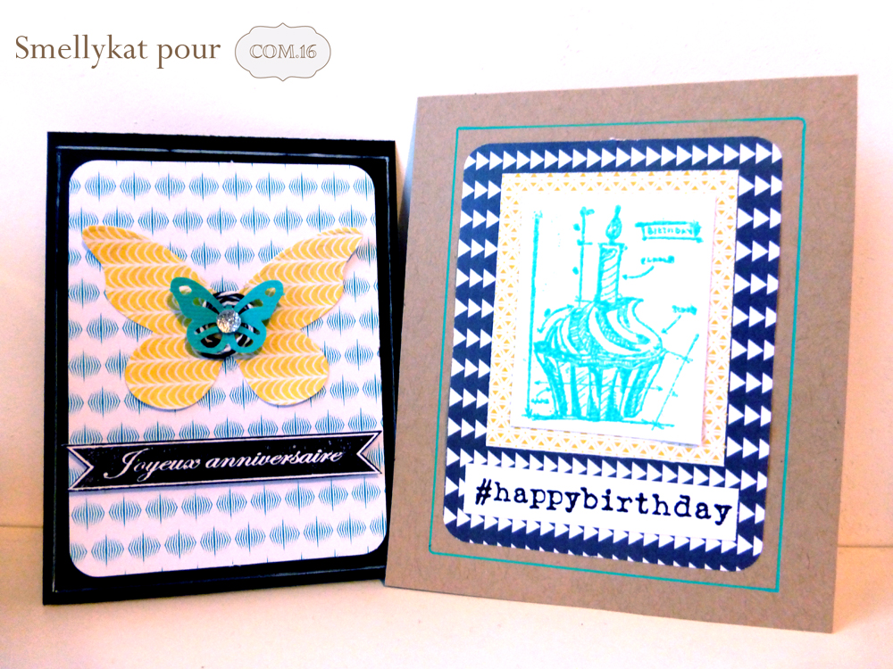 Smellykat - Com16 - carte - anniversaire - papillon - gateau - bougie