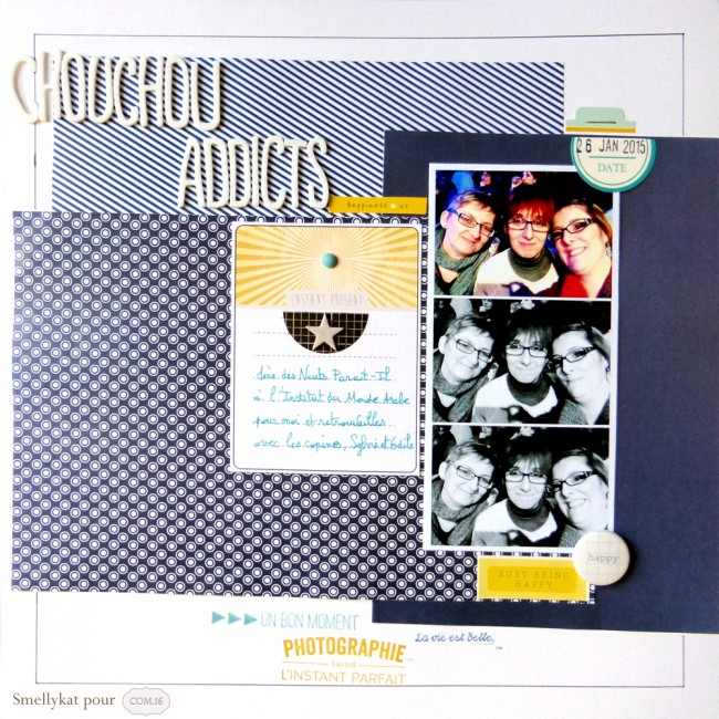 Smellykat - Com16 - Collection Vincent - Scrapbooking - Papiers - bleu marine