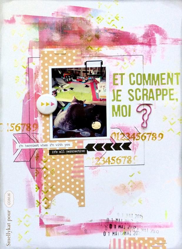 DT Com16 - Smellykat - Cedric - scarpbooking - papier - peinture