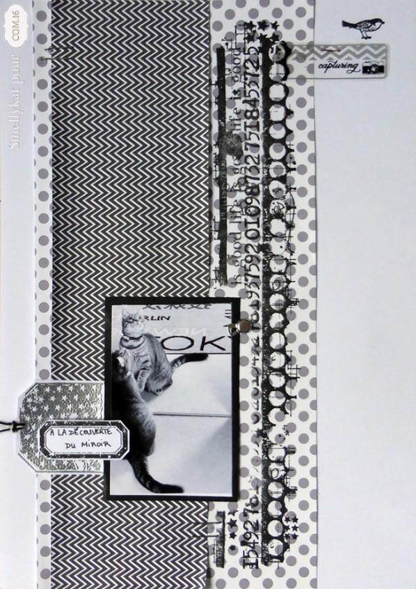 DT Com16 -Scrapbooking - papiers Bianca - noir gris blanc