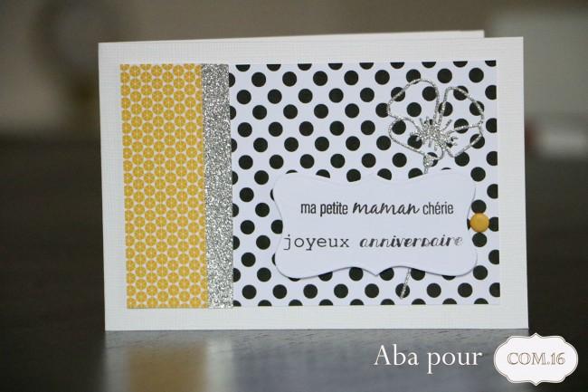 aba_carte_com16_anniversaire_maman_jaune_noir_argente_sacha_blanche
