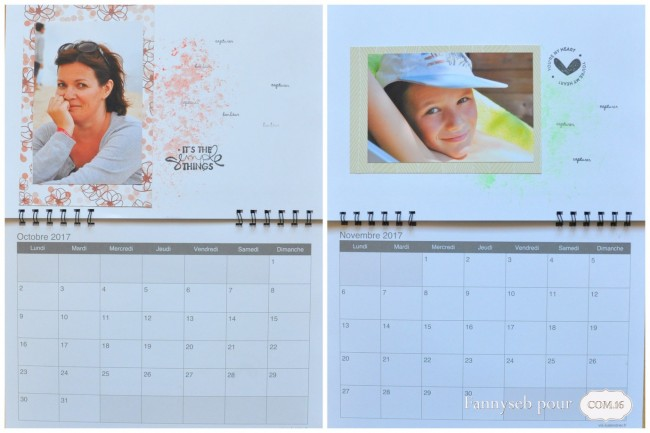 calendrier 2017 oct nov fannyseb collections suzie, bertille papiers COM16 SIGNATURE