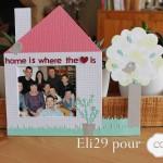 Cadre décoré Home sweet home