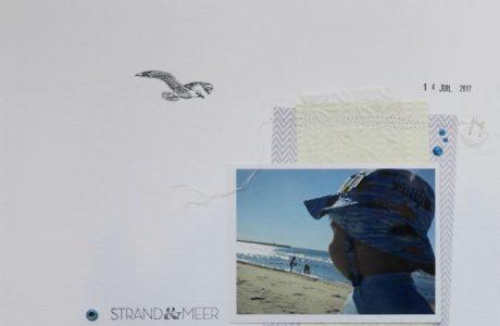 Scrap : Page A la mer