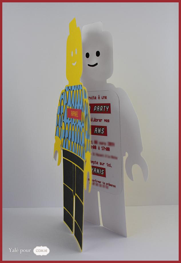 Complet Invitation thème lego - Com.16 LK41